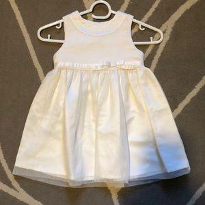 Cream color dress (size 24mos)